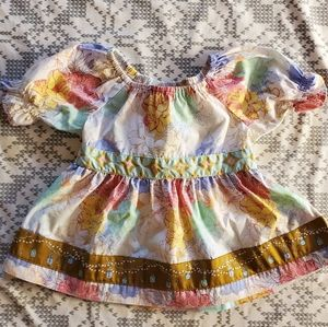 Lovely bouquet peasant top